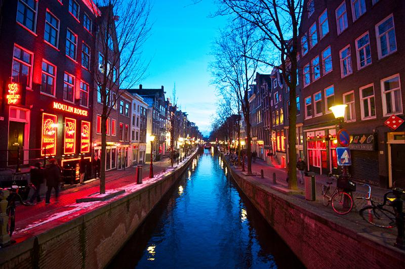 Lojas no De Wallen em Amsterdã