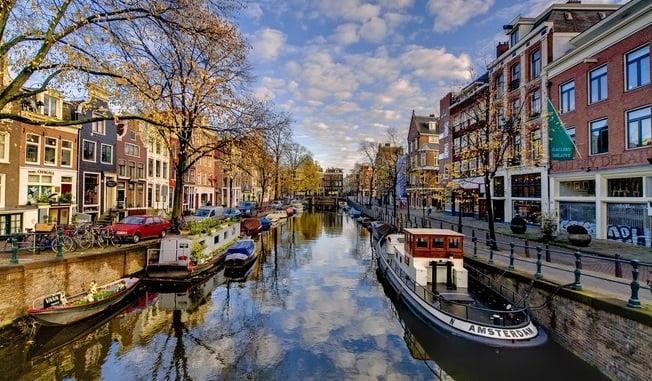 Canal Singel em Amsterdã