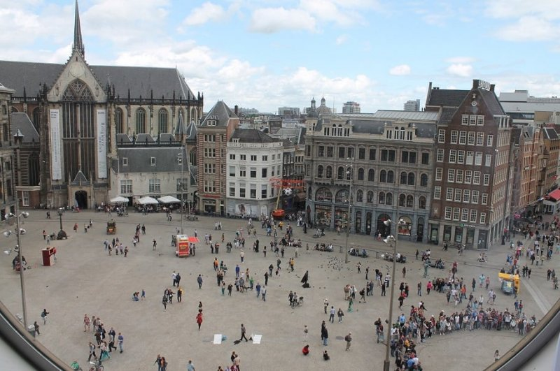 Praça Dam em Amsterdã