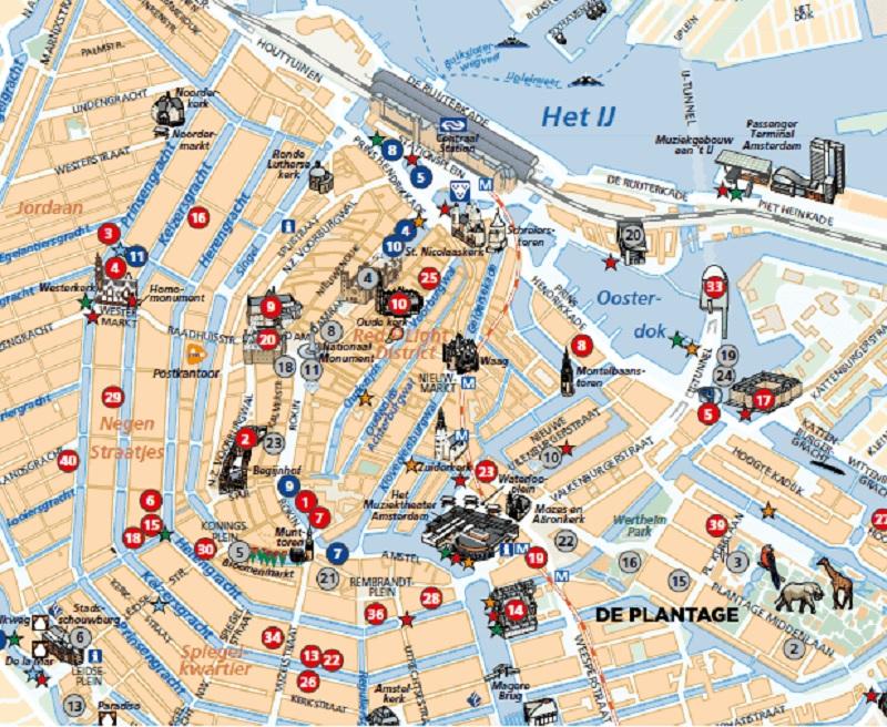 Mapa De Amsterdam Centro.Mapa Turistico De Amsterda 2020 Dicas Incriveis