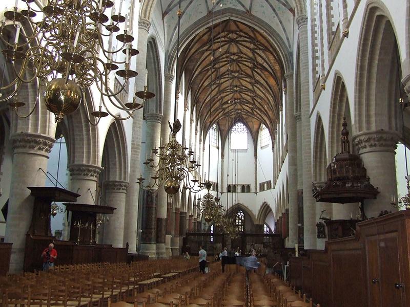 Catedral St-Bravo em Haarlem na Holanda