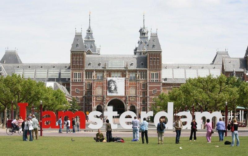 Letreiro em Amsterdã